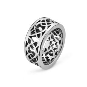 Celtic Knotwork Stainless Steel Ring 9366